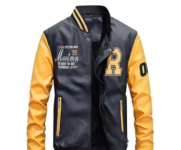 Mode pour hommes Designer Veste automne et en hiver PU manteaux de veste pour hommes en cuir style décontracté Foe Homme Sports de plein air Vêtements Veste