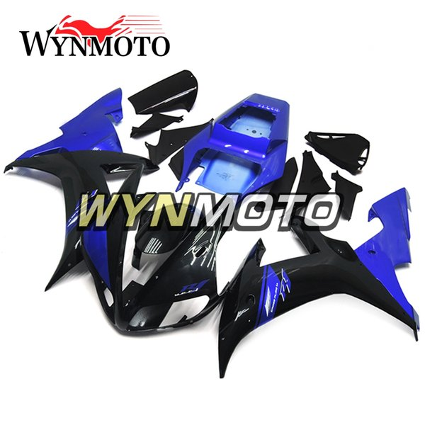Full Body Frames For Yamaha YZF1000 R1 2002 2003 02 03 ABS Plastics Injection Motorbike Panels Blue Gloss Black Hulls YZF R1 02 03 Fairings