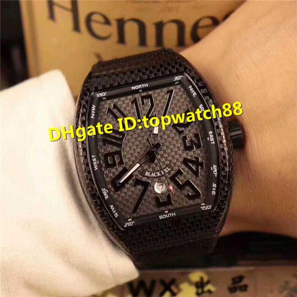 WX Top Mens Wristwatch Swiss Automatic Sapphire Three-dimensional convex word Dial Black Steel Case calfskin strap Super luminous Mens Watch