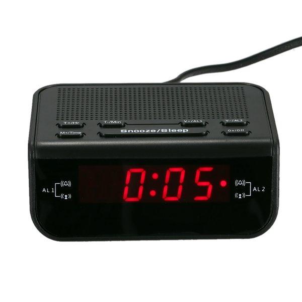 LED-Digitaluhr mit Sleep-Timer Schlummerfunktion Digitaler Wecker Fm Radio Tischuhren Modernes Design Pared