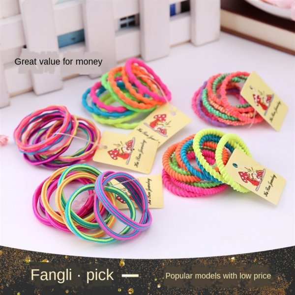 best selling Hu Ren jewelry selling Hair rubber crazy high-elastic children's hair band ten rubber band baby head rope