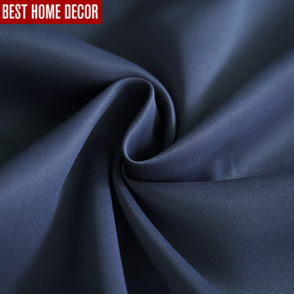 Modern blackout curtains for living room bedroom curtains for window drapes deep blue finished blackout 1 panel blinds