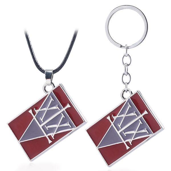 HUNTER x HUNTER Keychain GON FREECSS License Logo Holder Metal keyring Men Car Chaveiro Pendant Anime Jewelry Christmas gifts