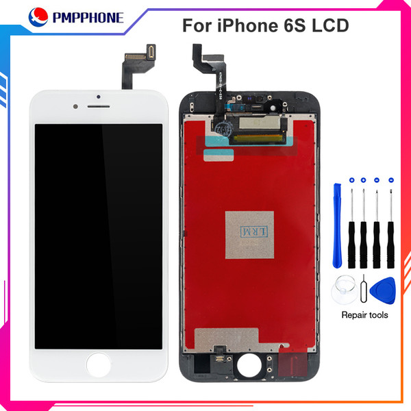 Good Quality Replacement Touch Screen + LCD Display Digitizer + Dust Mesh + Frame Full Set Assembly For iPhone 6G 6S with Fast DHL shipping