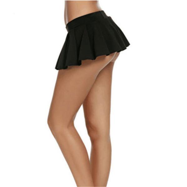 Women Pleated Super Mini Skirt Fashion Summer High Waist Solid Night Club Partywear Skirt Sexy Ladies Plus Size Short Mini Skirt