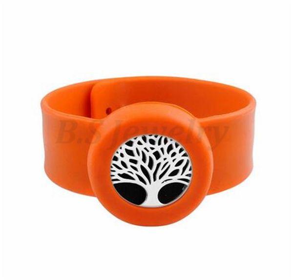 tree of life Charm Bracelet Kid Jewelry Silicone Slap Bracelets Essential Oils Diffuser Wristband Anti-Mosquito Bracelets & Bangles For Kids