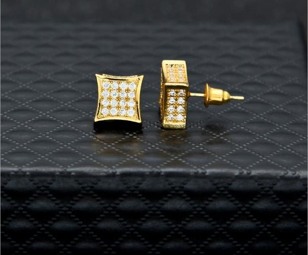 New European and American hip-hop fashion brand personality micro-zircon high-quality ear nails professional men hip-hop jewelry