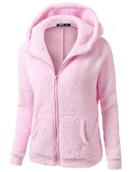 Long de l'hiver Printemps femmes manches Polaires Sweats à capuche Vestes Mode Casual femme coupe-vent Manteaux 20 Y191004