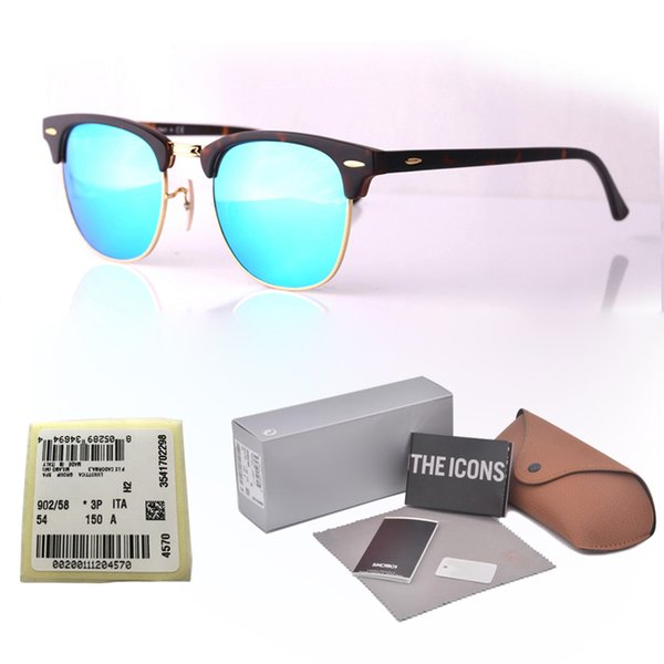 brand designer Cat Eye Sunglasses For Men Women Fashion Vintage UV400 Mirror glass lenses Retro Sun Glasses Eyewear with free box and label