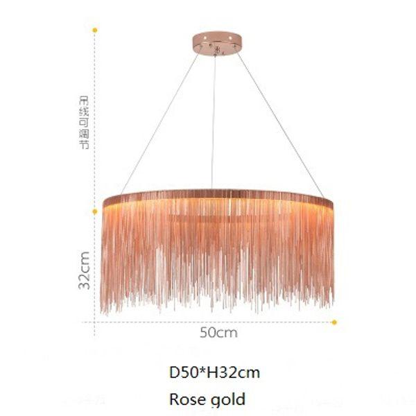 diámetro 50cm oro rosa