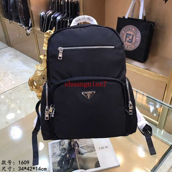 Men's Tote Retro England Women Leather Bag Fashion Backpack Trend Middle School College Wind Multiple pockets