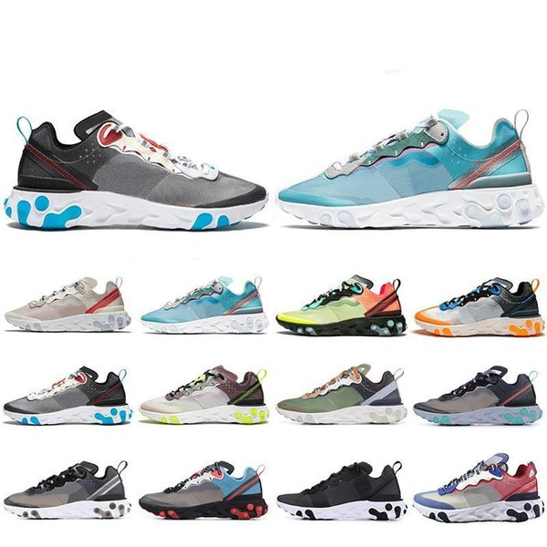 2019 Mais Novo Elemento de Reacção 87 tênis para mulheres dos homens Vela Tint Real Antracite VOLT RACER ROSA Mens Trainer sports sneakers 36-45