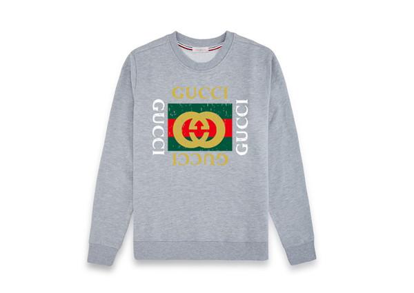 2019 designer herren sweatshirt casual schüssel-hals monogrammiert baumwolle sweatshirt herbst / winter langarm pullover street style kleidung