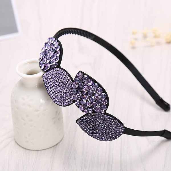 korea sweet simple crystal rhinestone headbands girl cute full diamond fine flower hairbands for women fashion hair accessories