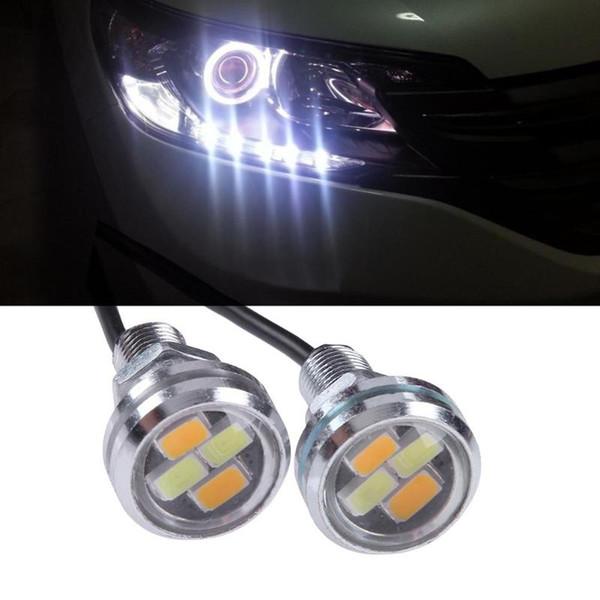 1 Par de Poupança de Energia Luzes de Circulação Diurna 12 V 5630 4SMD Auto LED DRL Olho de Águia Luzes Super Bright Turning Sinal de Aviso lâmpada