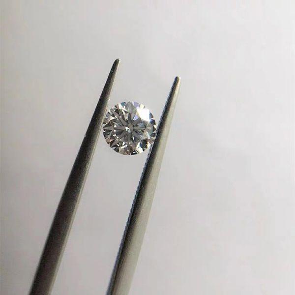 1pc 1 DF crecidas laboratorio Moissanite piedra VVS1 perfecto corte redondo flojo del anillo de diamantes de talla para la Mujer Colgante Haciendo Fine Jewerly