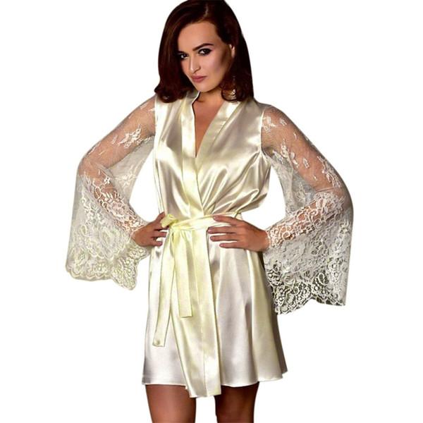 Women Fashion Sexy Sleepwear Lingerie Lace Temptation Belt Underwear Nightdress women's sexy elegant nightdress 2019 %8