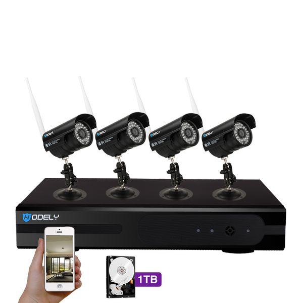 Hodely 8CH 960P NVR Wifi Set 720P 3.6mm 36-LED wasserdichte IP Kamera US Stecker 1TB HDD