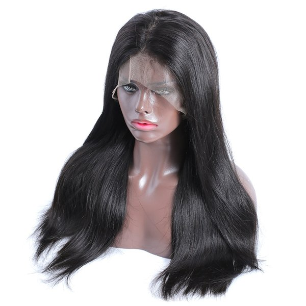 24 Inch Long 360 Lace Frontal Wigs Brazilian Straight Full 13x6 Lace Front Human Hair Wig Pre Plucked With Baby Hair 250 Density IP75