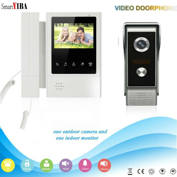 SmartYIBA 4.3 pollici TFT LCD a colori touch screen palmare videocitofono campanello 800 * 480 visione notturna videocamera IR video citofono
