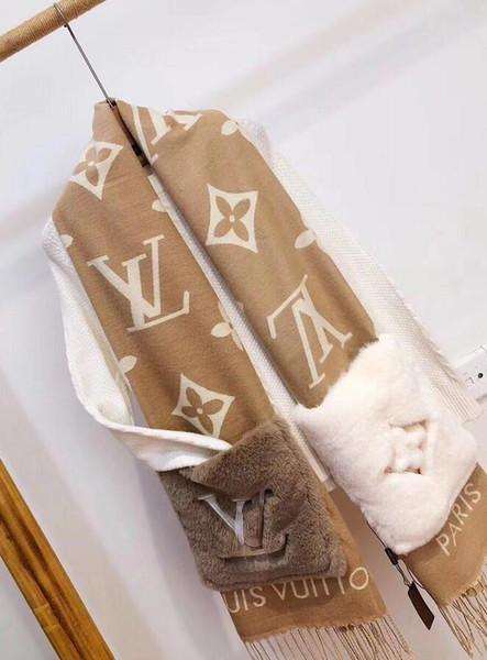 L'ultimo Pocket Sciarpa di lusso caldo di marca cachemire classico disegno della nappa scialle e comodo Formato regalo di Natale di trasporto 200 * 45