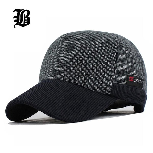 12c49b700e4  FLB  Warm Winter Thickened Baseball Cap With Ears Men S Cotton Hat  Snapback Winter Hats