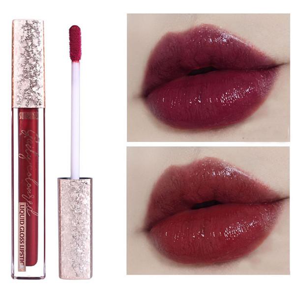 Acheter Sukone Hydratant Brillant Pour Les Lèvres Effet Miroir Teinté Lèvres Rouge Foncé Couleur Imperméable Tenue Longue Durée Rouge à Lèvres Liquide