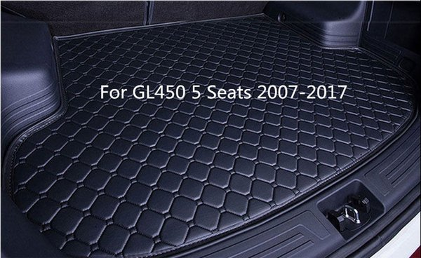 For Mercedes-Benz GL450 5 Seats 2007-2017 Luxury Hand-made Car Rear Cargo Boot Trunk liner Mat Pad