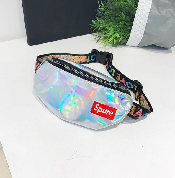 New children's pockets Waist Bags boys and girls Pack Female Belt Bag Waist Packs Laser multi-function Chest bag package