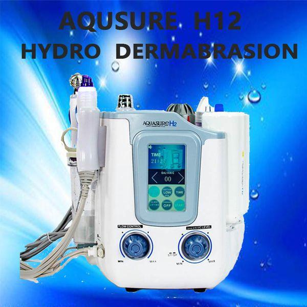 3 in 1 aqua ure h2 machine kin care deep clean ing machine facial pa h2 o2 water bubble microcurent hydra dermabra ion machine 2019