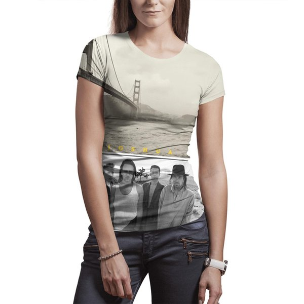 Woman U2 The Joshua Tree 1987 Europeon Tour t shirt Polyester white design vintage fashion Tees