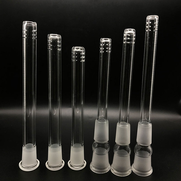 top popular New Multiple Sizes Glass Bongs Downstem Water Pipes Down Stem 18-14mm 14mm 18mm Accessories For Pipe Dab Oil Rig Beaker Bong Glass Hookahs 2021
