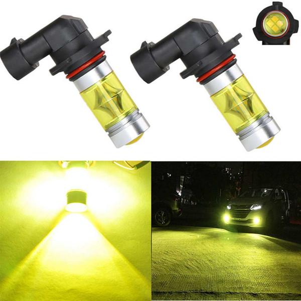 2Pcs 9006 HB4 High Power Yellow 100W LED Fog Driving Light 20SMD Bulb