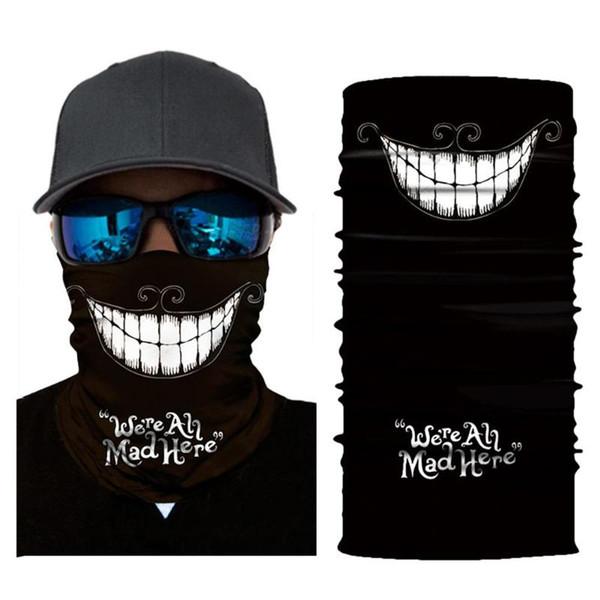 Raffreddare multifunzionale sport all'aria aperta fascia da ballo sciarpa cosplay maschera facciale accessori hip hop regalo maschera antivento per l'escursionismo