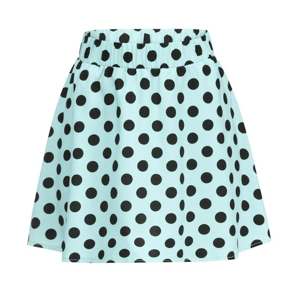 New Fashion 2019 Summer style skirts womens casual Party Cocktail Dot Printed Skirt High Waist Midi Skirt Femme Saia Y04