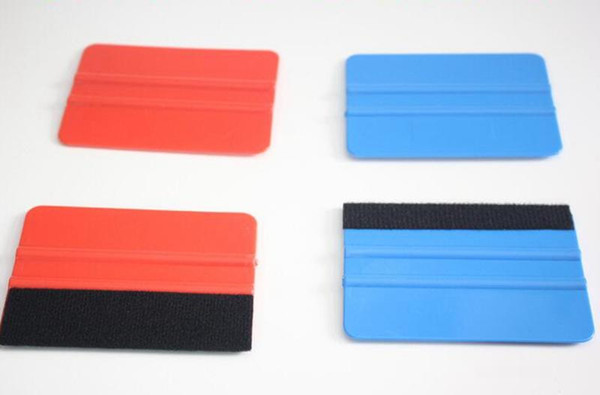 best selling Double Sided Car Felt Squeegee Vinyl Film Wrap Blue Scraper Tools Car Sticker Tools Auto Modification Styling Accessories Red Blue