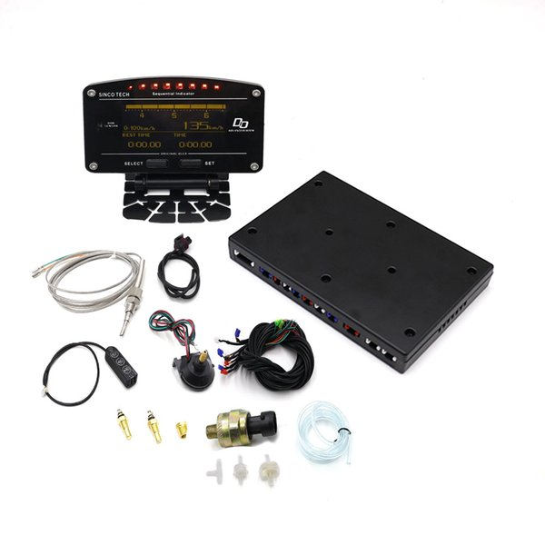 10 en 1 Nouveau Style Auto Sports Compteur Numérique OLED Tachymètre Numérique Capteur Complet Kit Compteur De Voiture Électrique YC101196