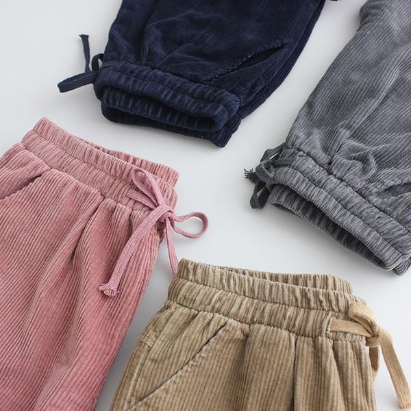 Pantaloni di velluto a coste invernali nuova versione allentata coreana del velluto coreano donne pantaloni Lunan drop shipping