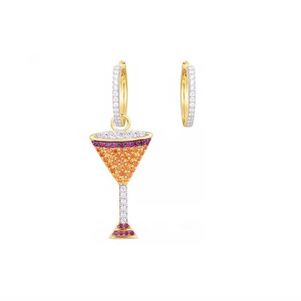 Sommer Mode 18 Karat Gelbgold Überzogene Bunte Cocktail Ohrringe für Mädchen Frauen für Party Hochzeit Schöne Ohrringe Geschenk für Freund