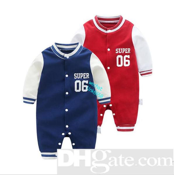 2019 Girocollo in cotone Uniforme Abbigliamento New neonato pagliaccetto Boy Girl vestiti manica lunga bambino prodotto primavera Autunno-40