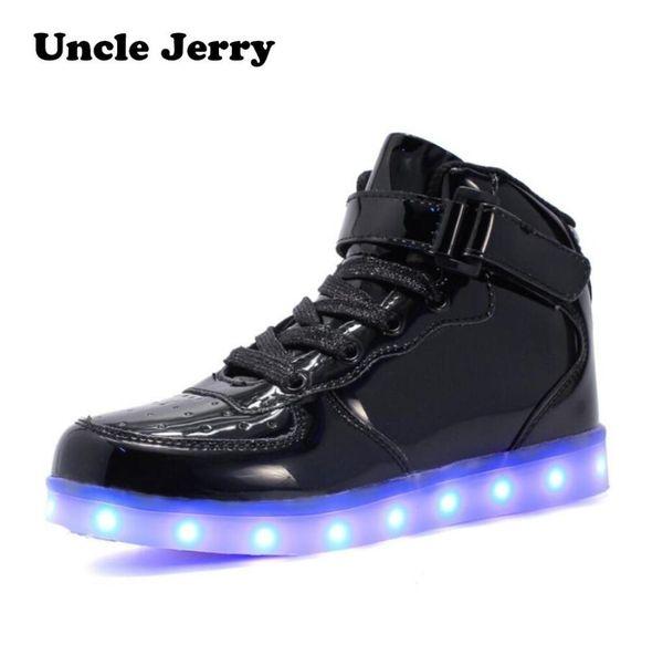 Eu 25-46 Led Scarpe Per Bambini E Adulti Caricatore USB Light Up Air Force Per Ragazzi Ragazze Uomini Donne Fashion Party Incandescente Sneakers Y19051303