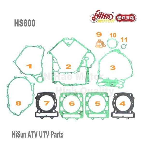 top popular 5 HISUN ATV Parts Full Set Gasket HS400 HS500 HS600 HS700 HS800 ATV UTV Gokart Quad Spare engine parts Quality Nihao Motor 2021