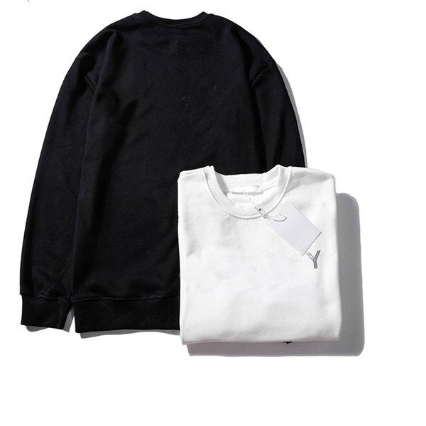 Marka Harf Nakış Triko 19ss Kış Erkek Giyim ile Sweatershirt Hoodie Tasarımcı Kazak Uzun Kollu Lüks Ter
