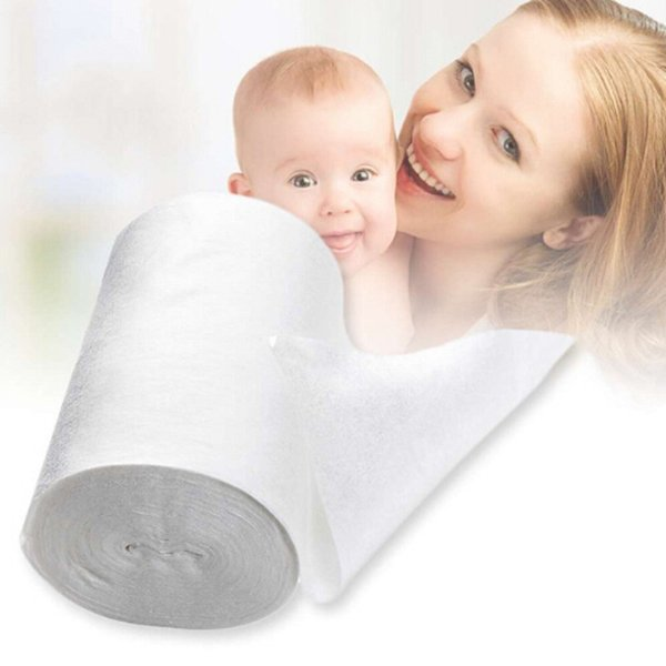 New Safety Baby Flushable Biodegradable Disposable Cloth Nappy Diaper Bamboo Liners 100 Sheets For Baby 1 Roll 18cmx30cm 3-15Kg