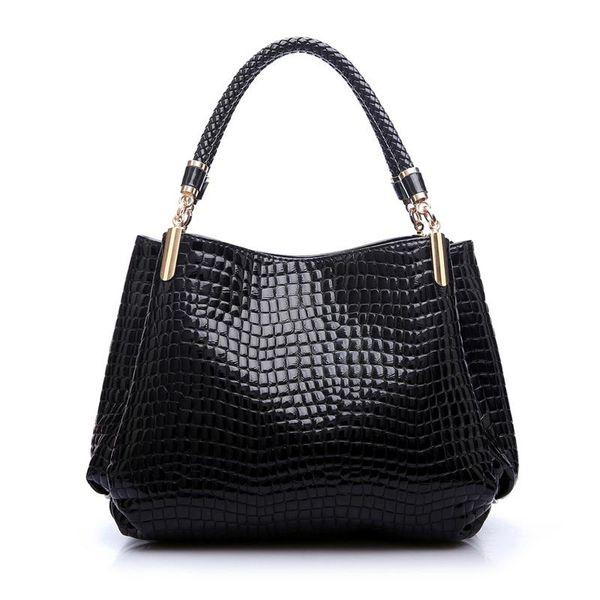 Kunzite 2017 dello stilista borsa delle donne della coccodrillo borse a spalla alta qualità del sacchetto delle donne Feminina Bolsas Sac à main