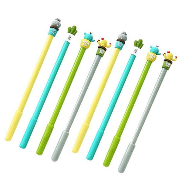 Moda Lindo Colorido Kawaii Encantadora Novedad de Dibujos Animados Creativa Botánica Planta Cactus Gel Tinta Rollerball Bolígrafos Bolígrafos Bolígrafos Oficina