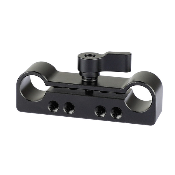 "CAMVATE 15mm Dual Rod Clamp Adapter With 1/4""-20 and M4 Threads for dlsr shoulder rig kit C2099"