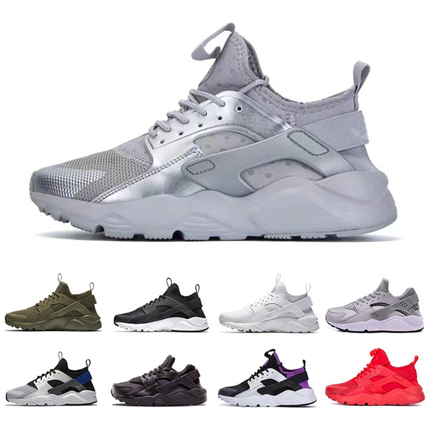 Compre Nike Air Hot Sale Silver Huarache 4.0 Mens Running Shoes For Men Women Triple Black White Red Huaraches 1.0 Outdoor Sports Sneakers Trainers De