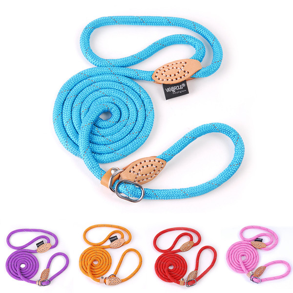 Wholesale e collar dogs resale online - Cheap es Pet Products Leash Nylon Reflective Puppy Dog Leash Rope Cat Chihuahua Pet Leash And Collar Set Cat Dog Leashes