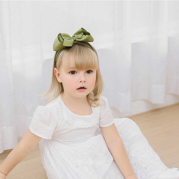 best selling Wholesale Hair Accessories Dot Bow Twisted Knotted Hair Band Turban Head Wrap Baby Headband jojo bow nylon headband